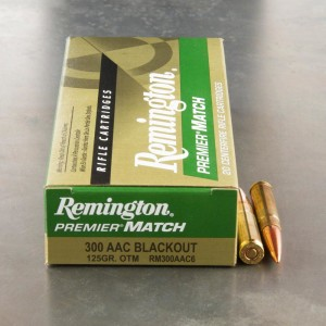 200rds - .300 AAC BLACKOUT Remington Premier Match 125gr. OTM Ammo