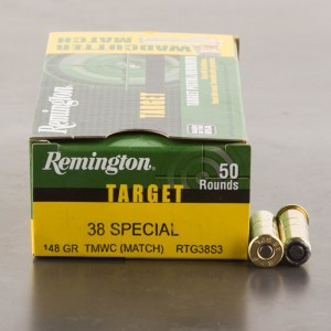 50rds - 38 Special Remington Target 148gr. TMWC Ammo