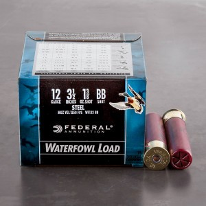 "25rds - 12 Ga. Federal Speed-Shok 3 1/2"" 1 3/8oz #BB Steel Shot"
