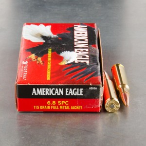 200rds – 6.8mm SPC Federal American Eagle 115gr. FMJ Ammo
