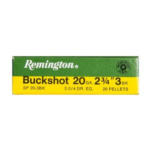 "250rds – 20 Gauge Remington Express 2-3/4"" #3 Buckshot Ammo"