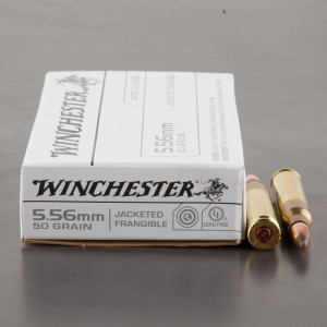 20rds - 5.56 Winchester 50gr. Jacketed Frangible Ammo