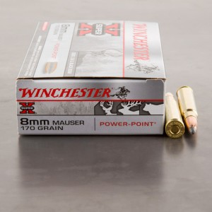 20rds - 8mm Mauser Winchester 170gr. Super-X Power Point Ammo