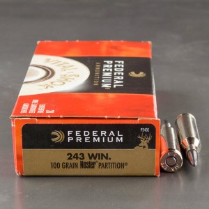 20rds - 243 Win. Federal 100gr. Vital-Shok Nosler Partition Ammo