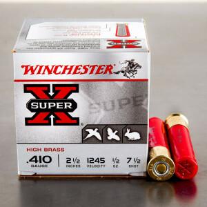 "25rds - 410 Gauge Winchester Super-X 2 1/2"" 1/2oz. #7.5 Shot Ammo"