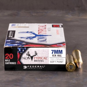 20rds - 7mm Rem Mag Federal Non-Typical Whitetail 150gr. Non-Typical SP Ammo