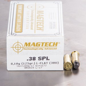 50rds - 38 Special Magtech 125gr. Lead Flat Nose Ammo