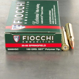 20rds – 30-06 Fiocchi Extrema 180gr. SST Ammo