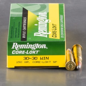 20rds - 30-30 Remington 150gr. Core-Lokt Soft Point Ammo