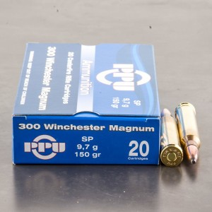 20rds - 300 Win. Mag Prvi Partizan 150gr. Soft Point Ammo