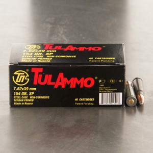 1000rds - 7.62x39 Tula 154gr. Soft Point Ammo
