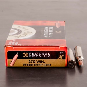20rds - 270 Win. Federal Vital-Shok 130gr. Trophy Copper Ammo