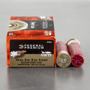"10rds - 12 Gauge Federal Mag-Shok 3"" 2oz. #5 Turkey Load"