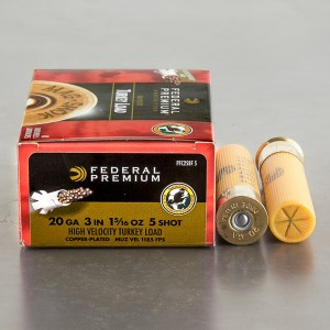"10rds - 20 Gauge Federal Mag-Shok 3"" 1-5/16oz. #5 Turkey Load"