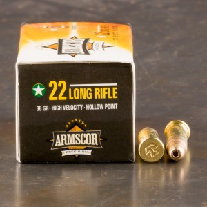 50rds - 22LR Armscor 36gr. High Velocity Hollow Point Ammo