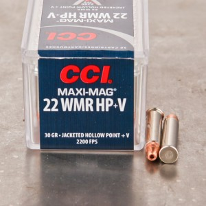 50rds - 22 Mag CCI Maxi-Mag +V 30gr. Hollow Point Ammo