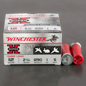 "250rds - 12 Gauge Winchester Super-X Game Load 2 3/4"" 1oz. #6 Shot Ammo"