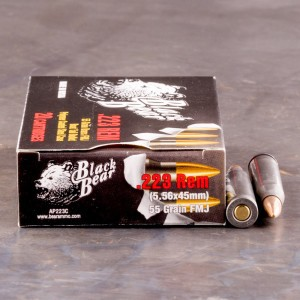 20rds - 223 Black Bear 55gr. Brass FMJ-BT Ammo