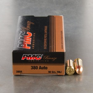 1000rds - .380 Auto PMC 90gr. FMJ Ammo