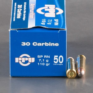 50rds - 30 Carbine Prvi Partizan 110gr. Soft Point Ammo