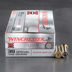 50rds - 38 Special Winchester 148gr.  SUPER MATCH Wadcutter Ammo