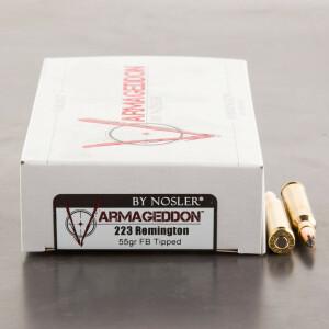 20rds - .223 Nosler Varmageddon 55gr. FB Tipped Ammo