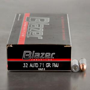 50rds - 32 ACP CCI Blazer 71gr TMJ Ammo