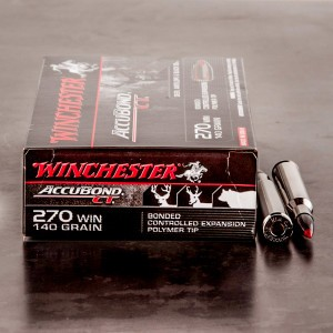 20rds - 270 Winchester Supreme 140gr. AccuBond Ammo