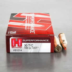 20rds - 30 Thompson Center Hornady 165gr. SST Ammo