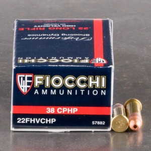 500rds - 22LR Fiocchi 38gr Copper Plated Hollow Point Ammo