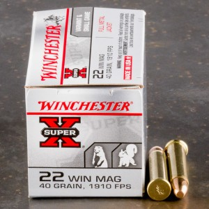 50rds - 22 Mag Winchester Super-X 40gr. FMJ Ammo