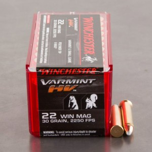 50rds – 22 WMR Winchester Varmint HV 30gr. V-Max Ammo