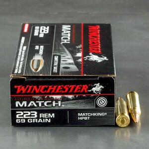 20rds - 223 Winchester Match 69gr. Matchking BTHP Ammo