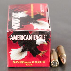 500rds - 5.7x28mm Federal American Eagle 40gr. TMJ Ammo