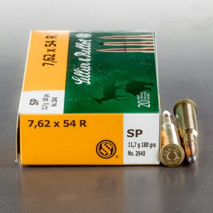 20rds - 7.62x54R Sellier & Bellot 180gr. Soft Point Ammo