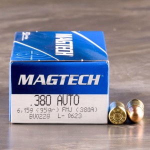 1000rds - 380 Auto MAGTECH 95gr. FMJ Ammo