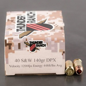 20rds - 40 S&W Corbon Thunder Ranch DPX 140gr. HP Ammo