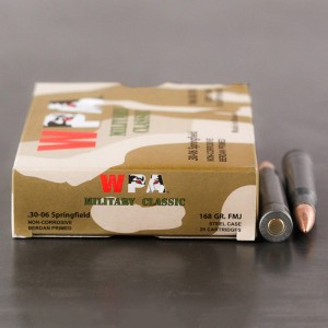 20rds – 30-06 WPA Military Classic 168gr. FMJ Ammo