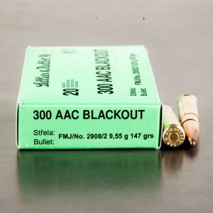 500rds – 300 AAC BLACKOUT Sellier & Bellot 147gr. FMJ Ammo