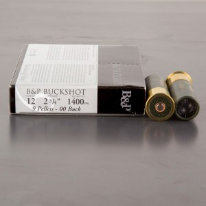 "100rds - 12 Gauge Baschieri & Pellagri 2 3/4"" 1 1/5 Ounce 00 Buck Ammo"