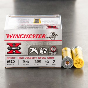 "25rds - 20 Gauge Winchester Xpert Steel Game Load 2 3/4"" 3/4oz. #7 Shot"
