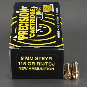 9mm Steyr PCI 115gr. FMJ Ammo 50 Rounds