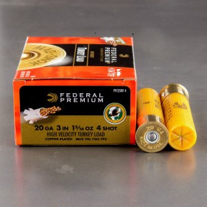 "10rds - 20 Gauge Federal Mag-Shok 3"" 1 5/16oz. #4 Turkey Load"