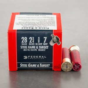"25rds - 28 Gauge Federal Steel Game and Target  2 3/4""  5/8oz. #7"