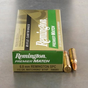 20rds - 6.8mm SPC Remington 115gr. Premier Match BTHP Ammo