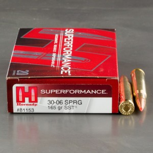 20rds - 30-06 Hornady 165gr. SST Superformance Ammo
