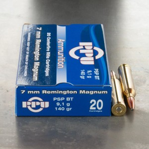 20rds - 7mm Rem Mag Prvi Partizan 140gr. Pointed Soft Point Ammo