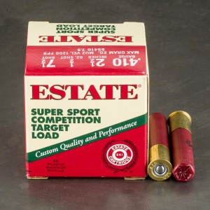 "25rds - 410 Gauge Estate Super Sport Competition 2 1/2"" Max Dram 1/2oz. #7 1/2 Shot Ammo"