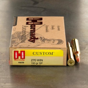 20rds - .270 Win. Hornady 150gr InterLock Spire Point Ammo