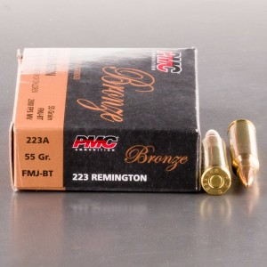 1000rds - .223 PMC Bronze 55gr. FMJ Ammo